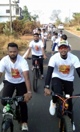 Good response to cycle rally in Pernem
