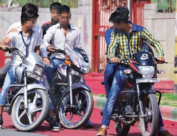 Policing students who  bring bikes to school