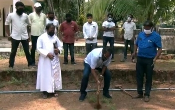 Beautification work launched at Agonda chapel