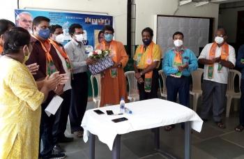 St Cruz BJP fetes Chimbel PHC team, BLOs