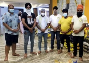 Goa Sikh Youth come to aid   of needy in Chimbel