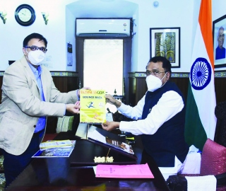 Goa Governor releases 12th   anniversary issue of Business Goa