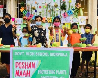 Poshan Maah at GHS Morpirla