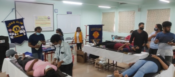 Blood donation camp by Lions   and Leo Club of Canacona