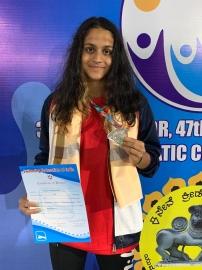 Swimmer Sanjana wins second medal at nationals
