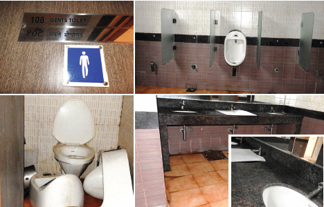 Swachhata goes down the drain in toilet No. 108  on first floor of South Goa collectorate building