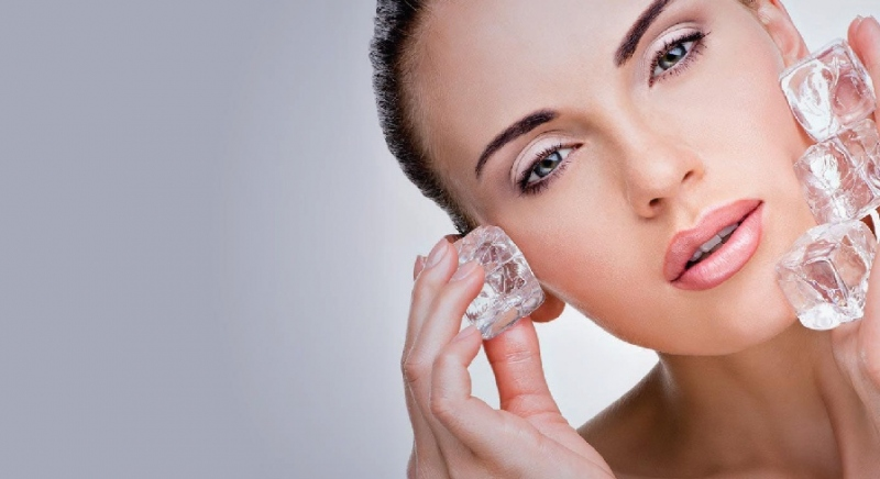 Pamper your skin with an ice facial