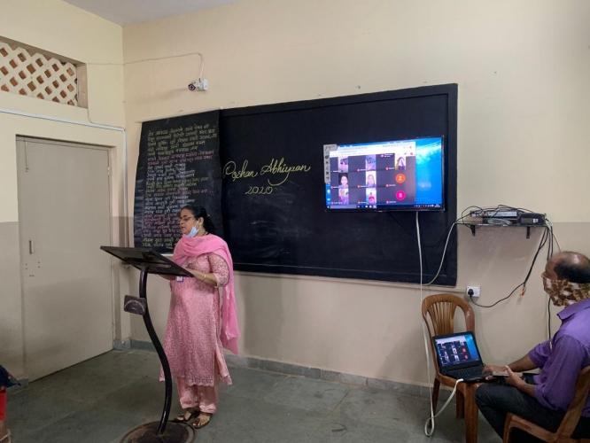Poshan assembly held by Anjuman school Vasco