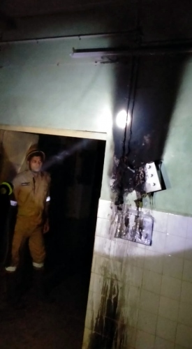Fire mishap at Kasarwarne PHC