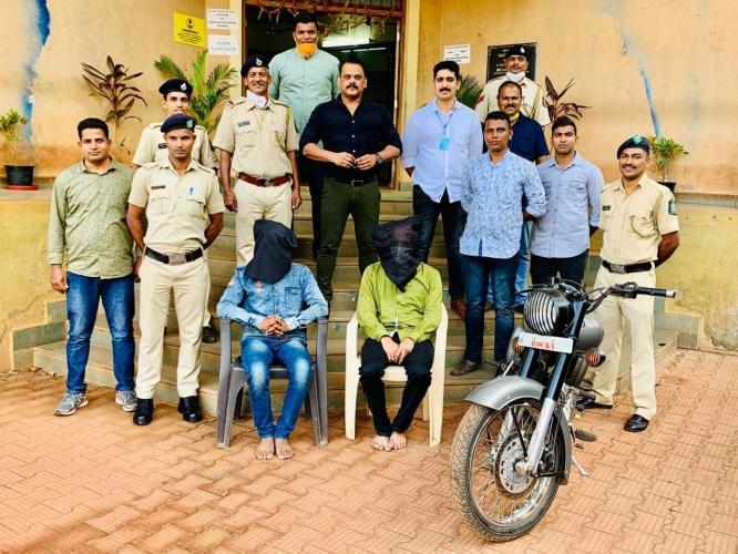 2 nabbed in  Kolhapur for   stealing Bullet in Pernem