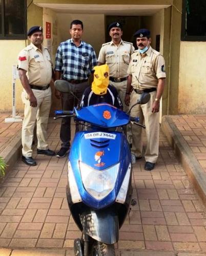 Scooter theft suspect held