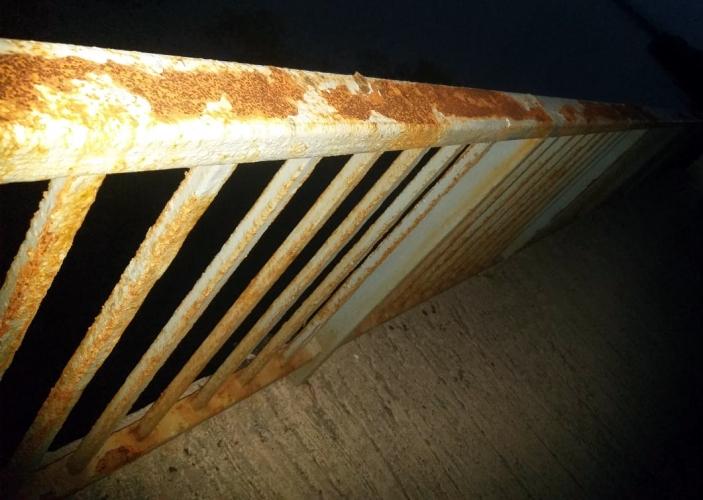 15-month-old bridge railings along Canacona bypass corroding