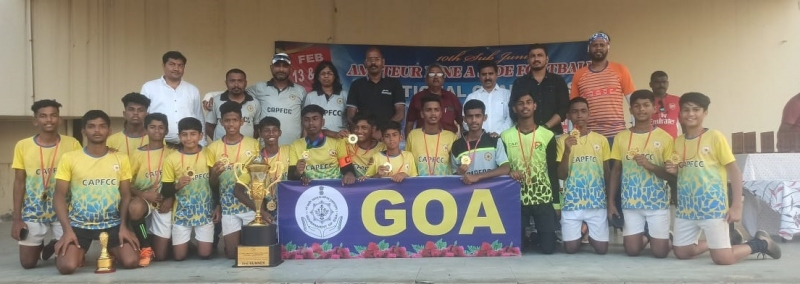 Goa U-15 boys second runners-up at nationals