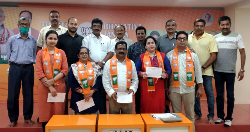 5 inducted in BJP to be in panel for Mapusa civic polls