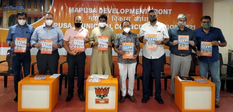 Mapusa BJP panel's manifesto focuses on infra development