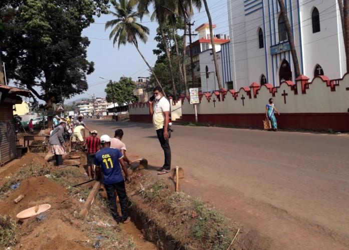 Pre-monsoon works begin early at Chaudi