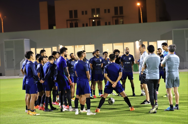 Chhetri one goal off entering all-time top-10 as India meet Afghanistan in last qualifier in Doha