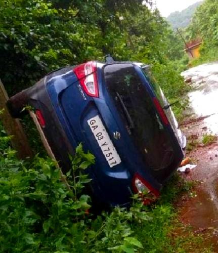 Abhijat Parrikar has lucky   escape in road mishap