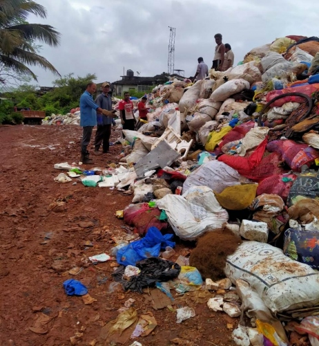 Baling of dry waste in Margao comes to a grinding halt