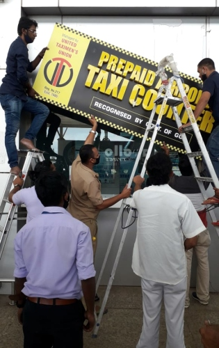 GoaMiles counter at airport shut down, handed to Yellow-Black taxi operators