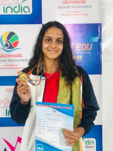Goan swimmer Sanjana gets Gold at Nationals