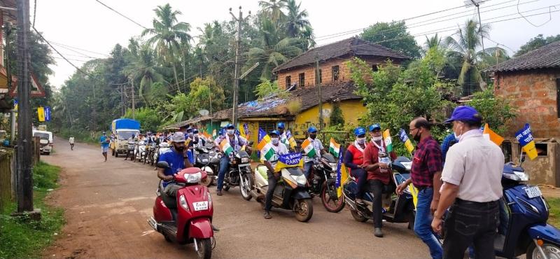 Rozgar Yatra at Vasco, Mormugao, Sanvordem attracts large crowds